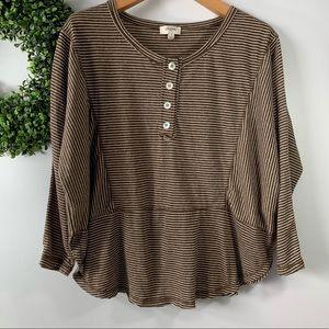 Umgee . Oversized Striped Shirt . S